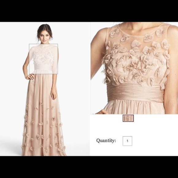 JS Collections Dresses | Formal Floral Appliqu Gown | Poshmark
